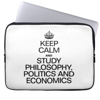 KEEP CALM AND STUDY PHILOSOPHY POLITICS AND ECONOM COMPUTER SLEEVES