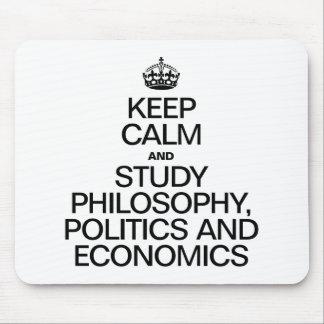 KEEP CALM AND STUDY PHILOSOPHY POLITICS AND ECONOM MOUSEPAD