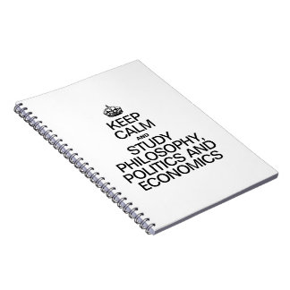 KEEP CALM AND STUDY PHILOSOPHY POLITICS AND ECONOM SPIRAL NOTE BOOKS