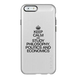 KEEP CALM AND STUDY PHILOSOPHY POLITICS AND ECONOM INCIPIO FEATHER® SHINE iPhone 6 CASE