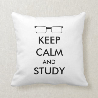 """""""Keep Calm and Study"""" Pillow"""