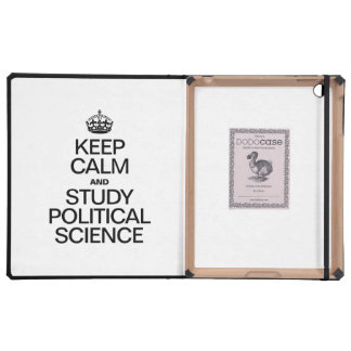 KEEP CALM AND STUDY POLITICAL SCIENCE iPad CASES