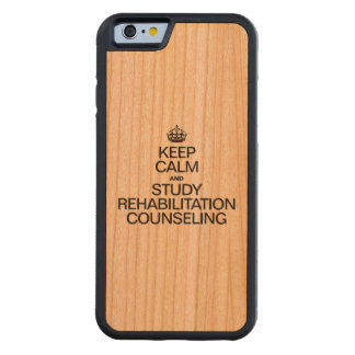 KEEP CALM AND STUDY REHABILITATION COUNSELING CHERRY iPhone 6 BUMPER CASE