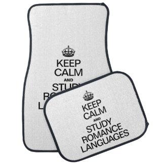 KEEP CALM AND STUDY ROMANCE LANGUAGES FLOOR MAT