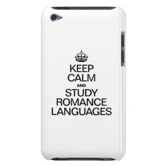 KEEP CALM AND STUDY ROMANCE LANGUAGES iPod TOUCH COVER