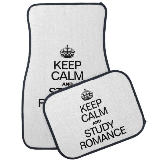 KEEP CALM AND STUDY ROMANCE CAR MAT