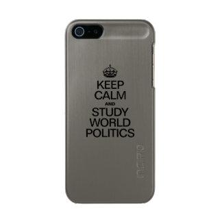 KEEP CALM AND STUDY WORLD POLITICS INCIPIO FEATHER® SHINE iPhone 5 CASE