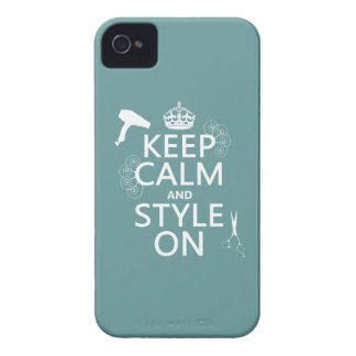 Keep Calm and Style On (any background color) Case-Mate iPhone 4 Cases
