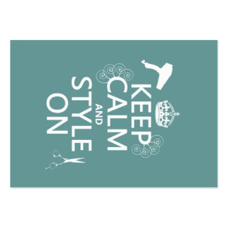 Keep Calm and Style On (any background color) Pack Of Chubby Business Cards