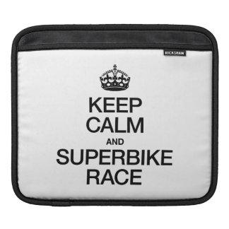 KEEP CALM AND SUPERBIKE RACE iPad SLEEVES