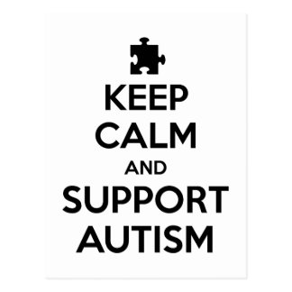 Keep Calm And Support Autism Postcard