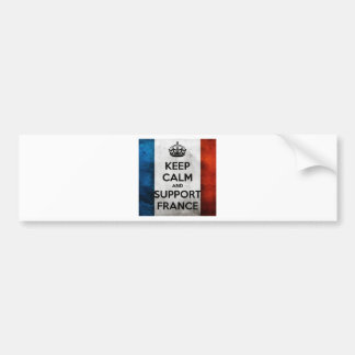Keep Calm and Support France Bumper Sticker