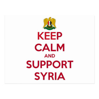 KEEP CALM AND SUPPORT SYRIA POSTCARD