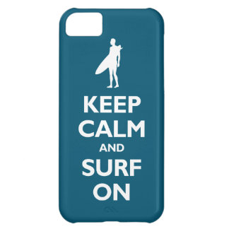 Keep Calm and Surf On (oceanside) iPhone 5C Case