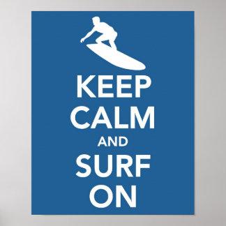 Keep Calm and Surf On print