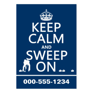 Keep Calm and Sweep On (curling)(any color) Pack Of Chubby Business Cards
