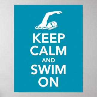 Keep Calm and Swim On print