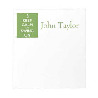 Keep Calm and Swing On Green Notepads