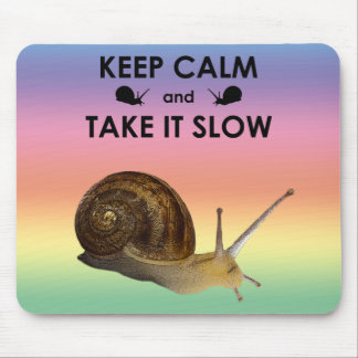 Keep Calm and Take it Slow Mousemat (Rainbow)