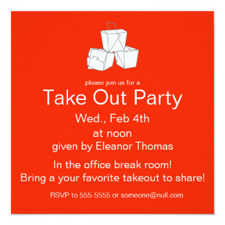 KEEP CALM AND TAKE OUT Invitation