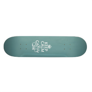 Keep Calm and Take The Pills in all colors Skate Board