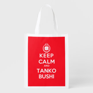 Keep Calm and Tanko Bushi (One-Sided) Reusable Grocery Bag