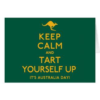Keep Calm and Tart Yourself Up! Card