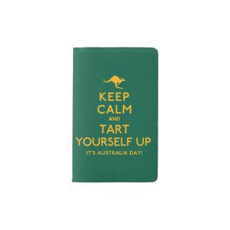 Keep Calm and Tart Yourself Up! Pocket Moleskine Notebook
