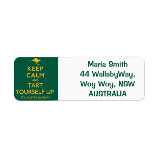 Keep Calm and Tart Yourself Up! Return Address Label