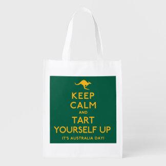 Keep Calm and Tart Yourself Up! Reusable Grocery Bag