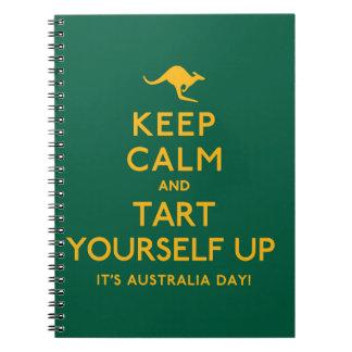 Keep Calm and Tart Yourself Up! Spiral Notebook