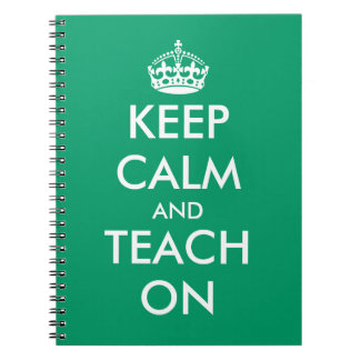 Keep calm and teach on notebook | School supplies