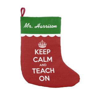 Keep Calm and Teach On Red Christmas Tree