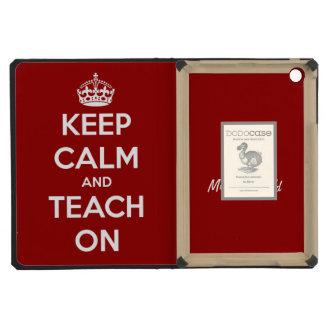 Keep Calm and Teach On Red Personalized iPad Mini Retina Case