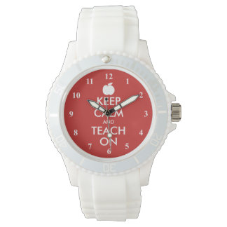 Keep Calm and teach on wrist watch gift idea