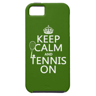 Keep Calm and Tennis On (any background color) Tough iPhone 5 Case