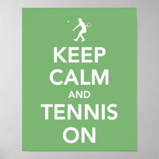 Keep Calm and Tennis On print