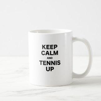 Keep Calm and Tennis Up Mugs