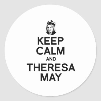 Keep Calm and Theresa May - -  Round Sticker
