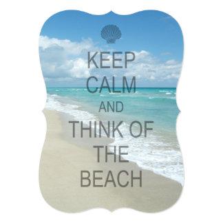 Keep Calm and Think of the Beach 13 Cm X 18 Cm Invitation Card