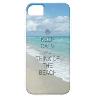 Keep Calm and Think of the Beach iPhone 5 Cover