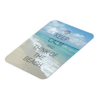 Keep Calm and Think of the Beach Magnet