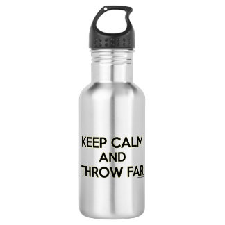 Keep Calm and Throw Far, Shot Put Discus Gift 532 Ml Water Bottle