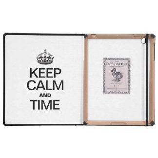 KEEP CALM AND TIME iPad CASES