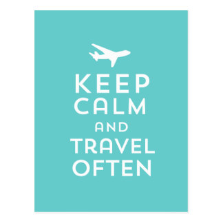 Keep Calm and Travel Often Postcard