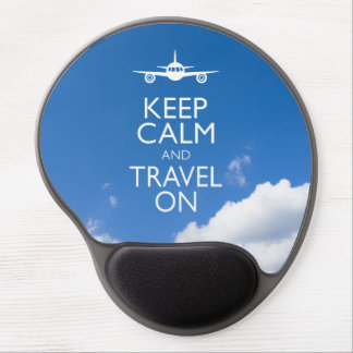 KEEP CALM AND TRAVEL ON GEL MOUSE PADS