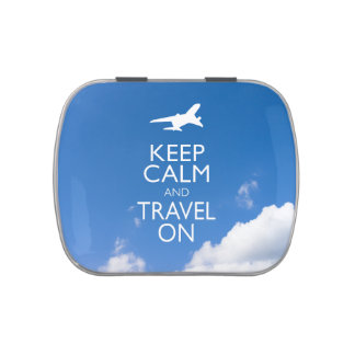 KEEP CALM AND TRAVEL ON JELLY BELLY TINS