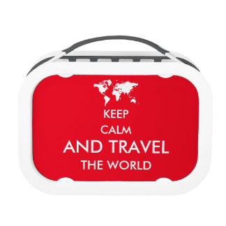 Keep calm and travel the world lunch boxes