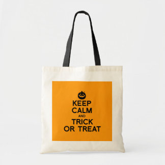 KEEP CALM AND TRICK OR TREAT - Halloween - png Canvas Bags