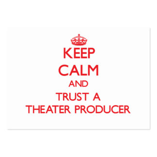 Keep Calm and Trust a aater Producer Business Cards